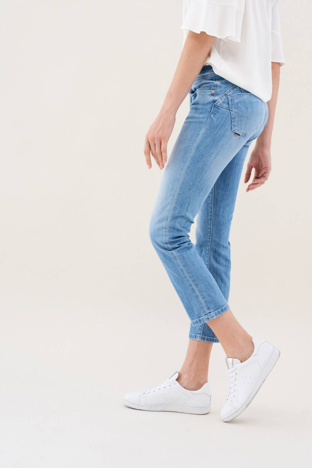 Jeans Wonder Push Up, Cigarette-Hose, in hellem Denim - Salsa