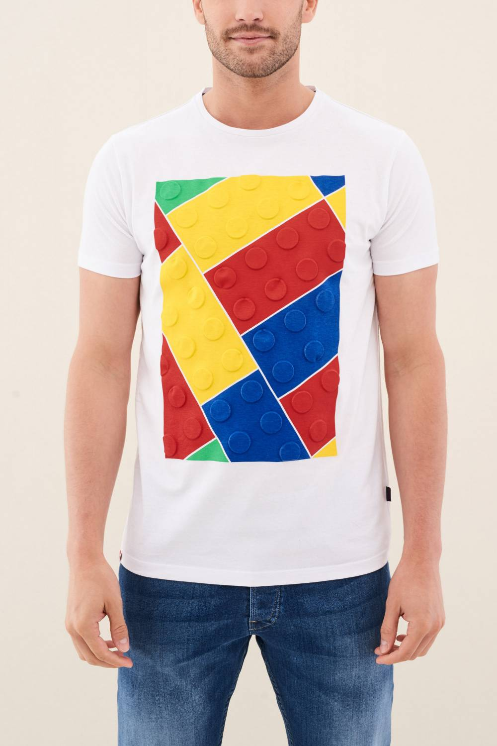 lego emblazoned with colorful T-shirt - Salsa