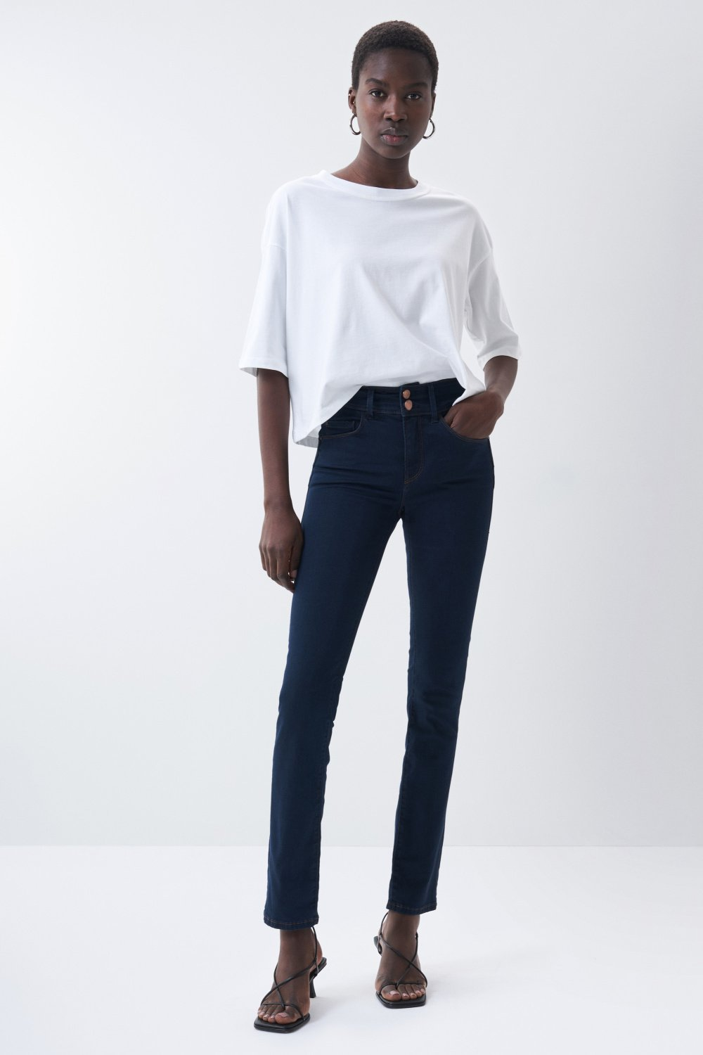 Jeans secret push in slim em denim - Salsa