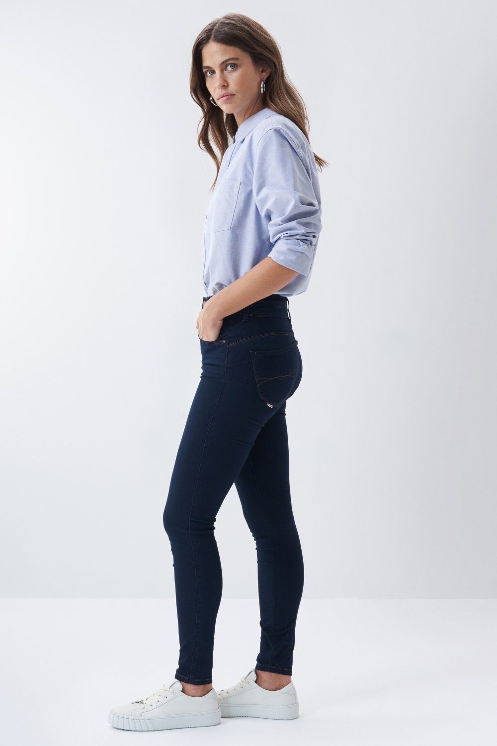 Jeans Secret Push In skinny désencollés - Salsa