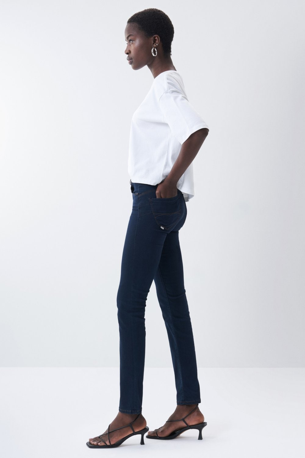 Secret push in slim jeans in denim - Salsa