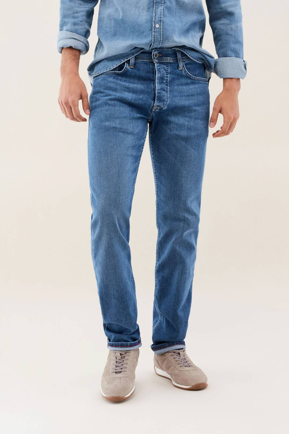 Navarro straight medium rinse denim jeans - Salsa