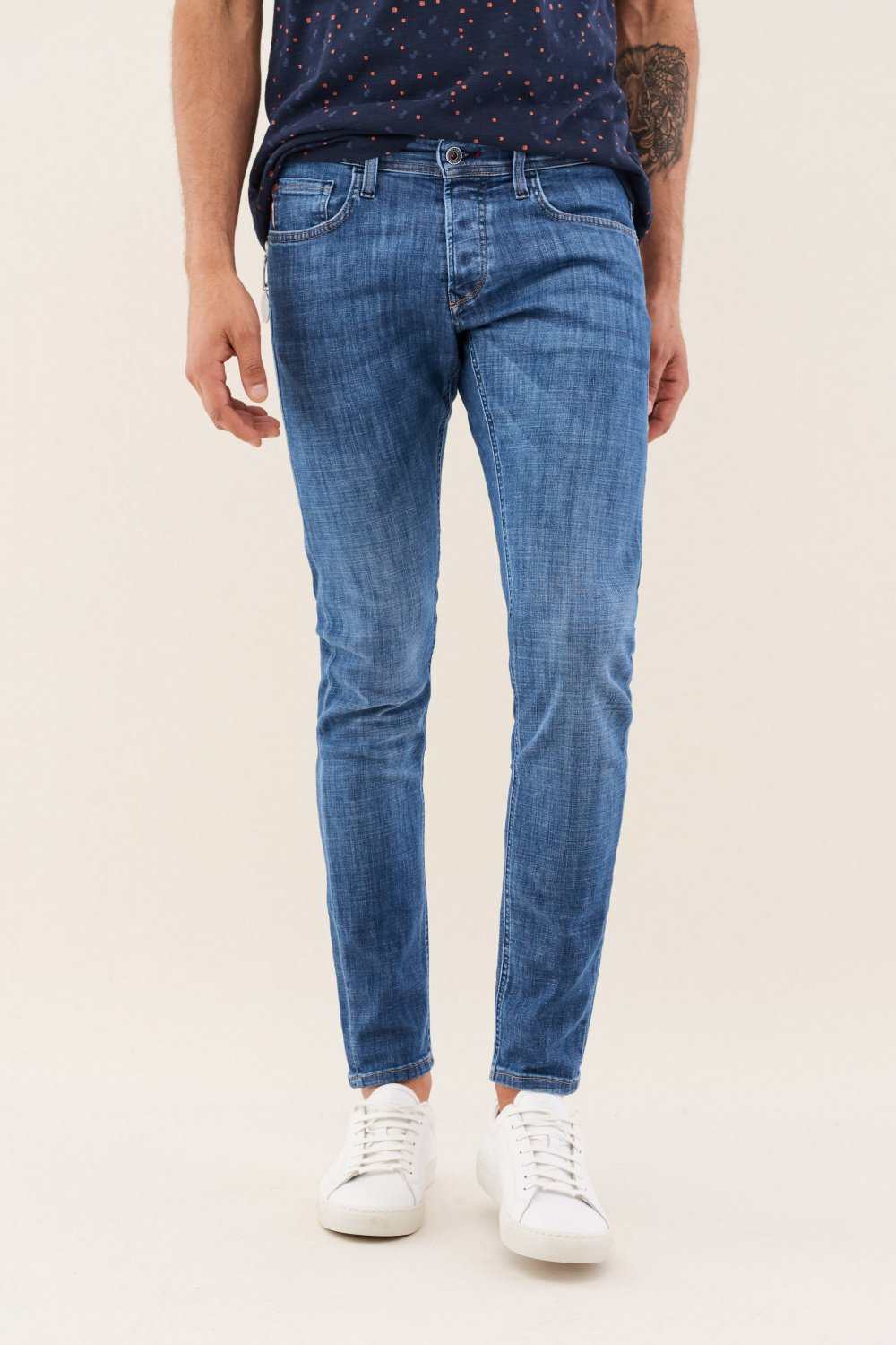 Clash skinny spartan jeans with effect - Salsa