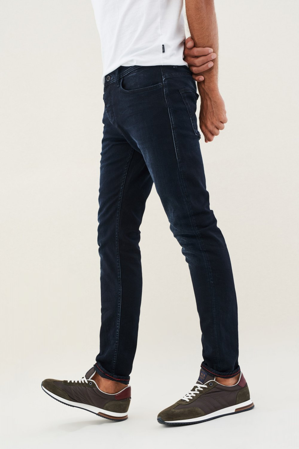 Jeans Slender, Slim Fit Carrot, Denim - Salsa
