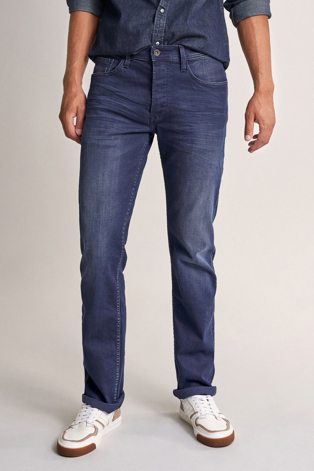 Navarro straight jeans in dark denim - Salsa