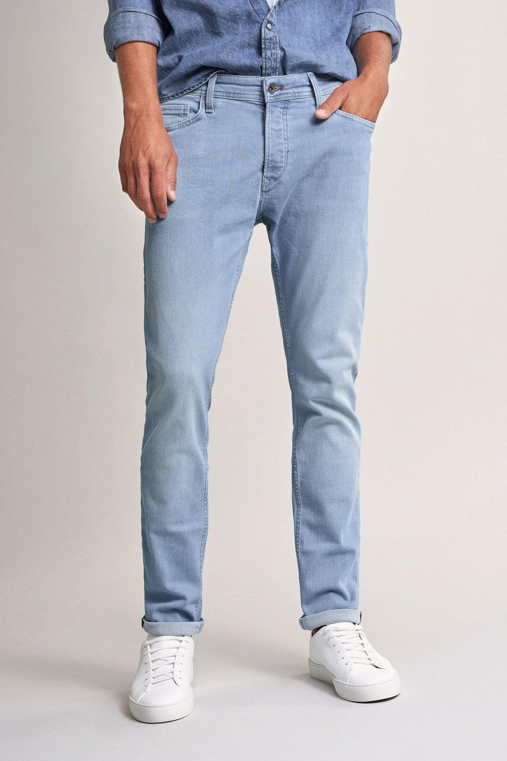Slender slim carrot rip proof light jeans - Salsa