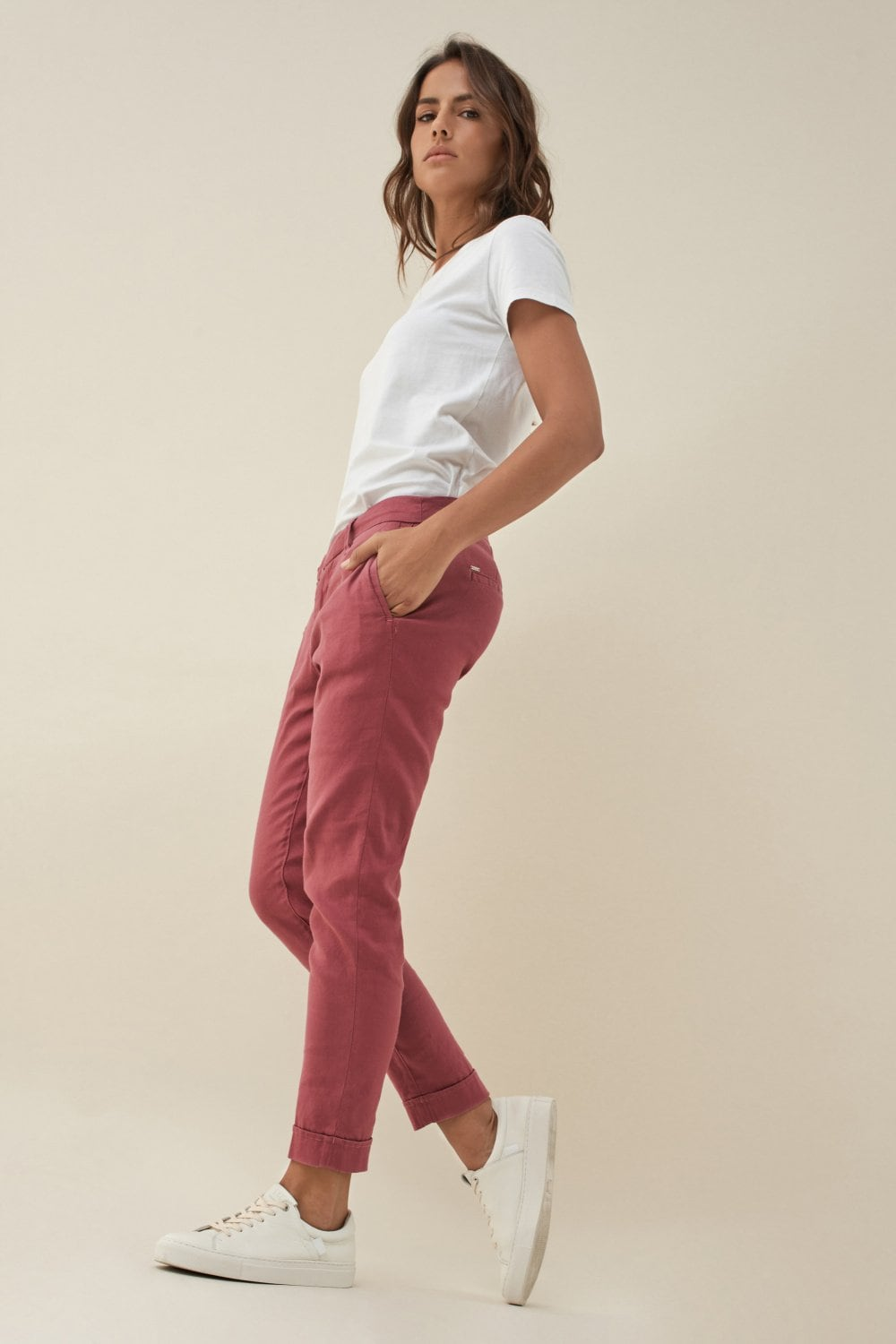 Colette capri trousers with detail on belt - Salsa
