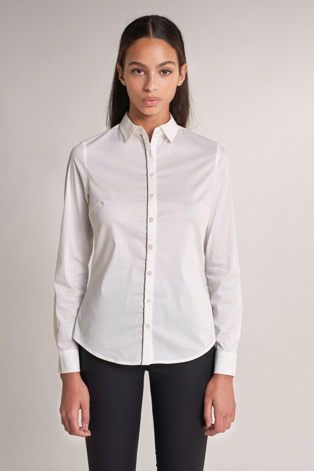 Slim fit shirt with line of detail - Salsa