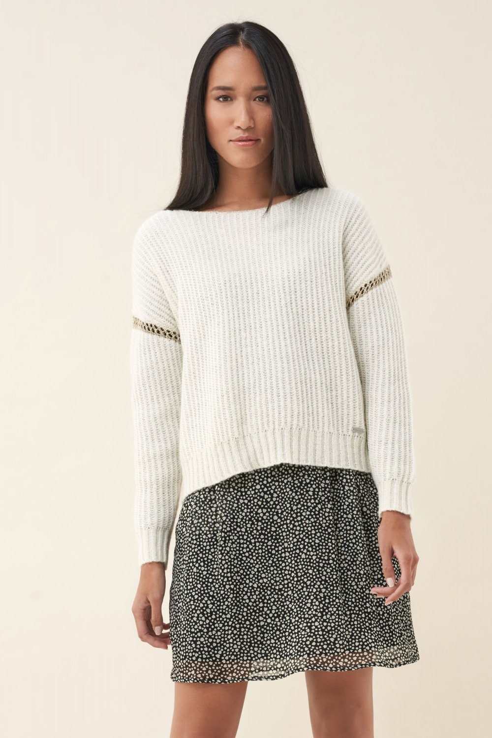 Knitted sweater with band on arm - Salsa