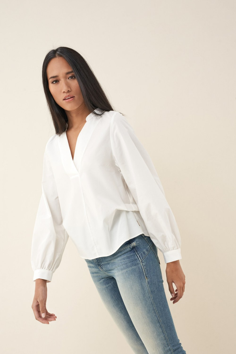 Cotton v-neck tunic - Salsa