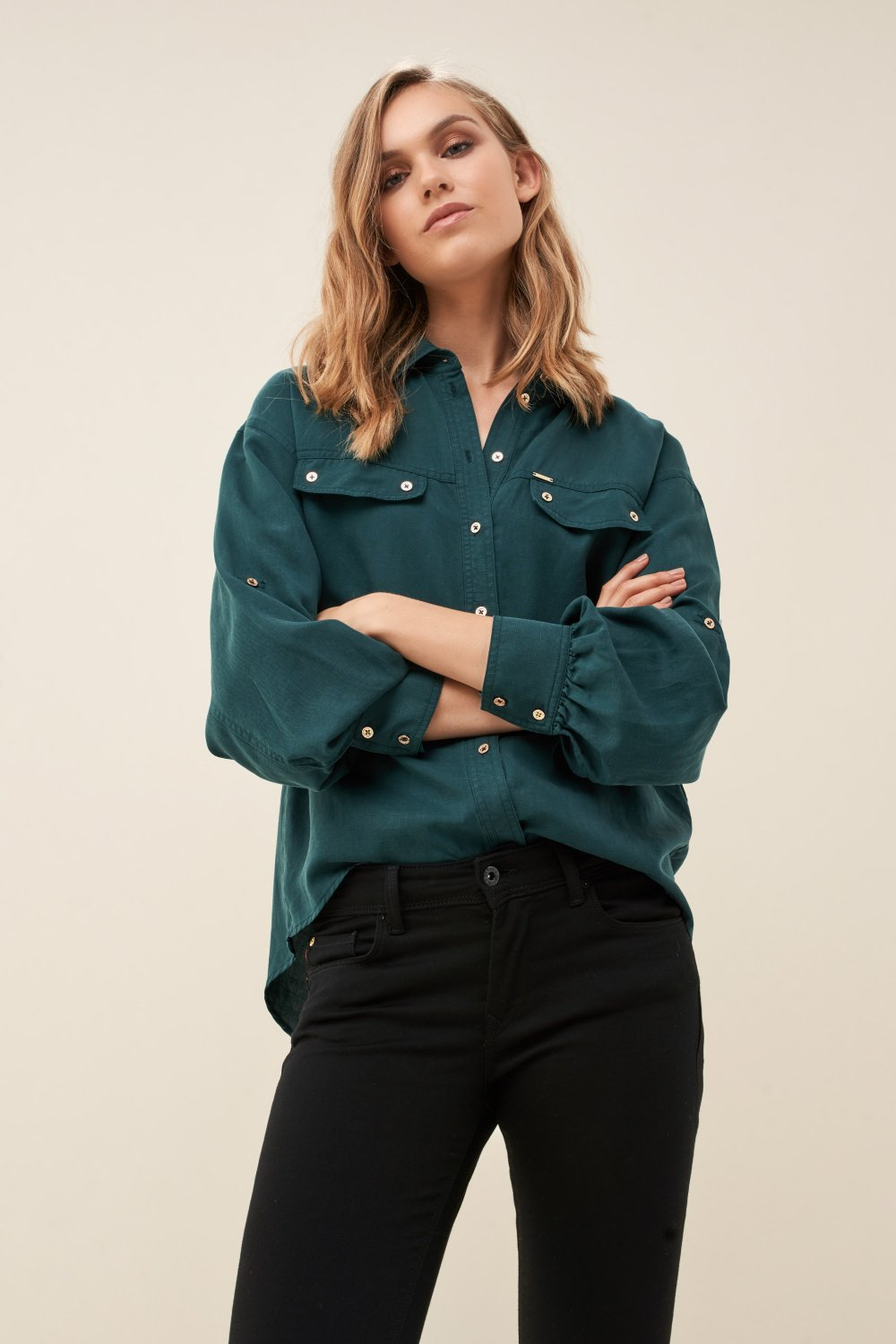 Regular fit shirt with pockets - Salsa