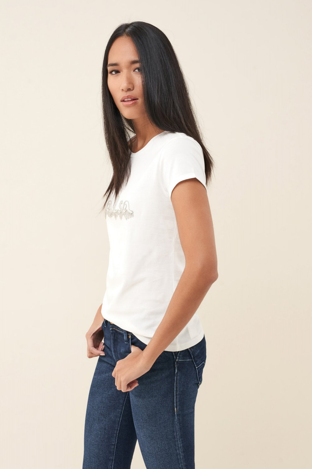 T-shirt with logo in stone detail - Salsa