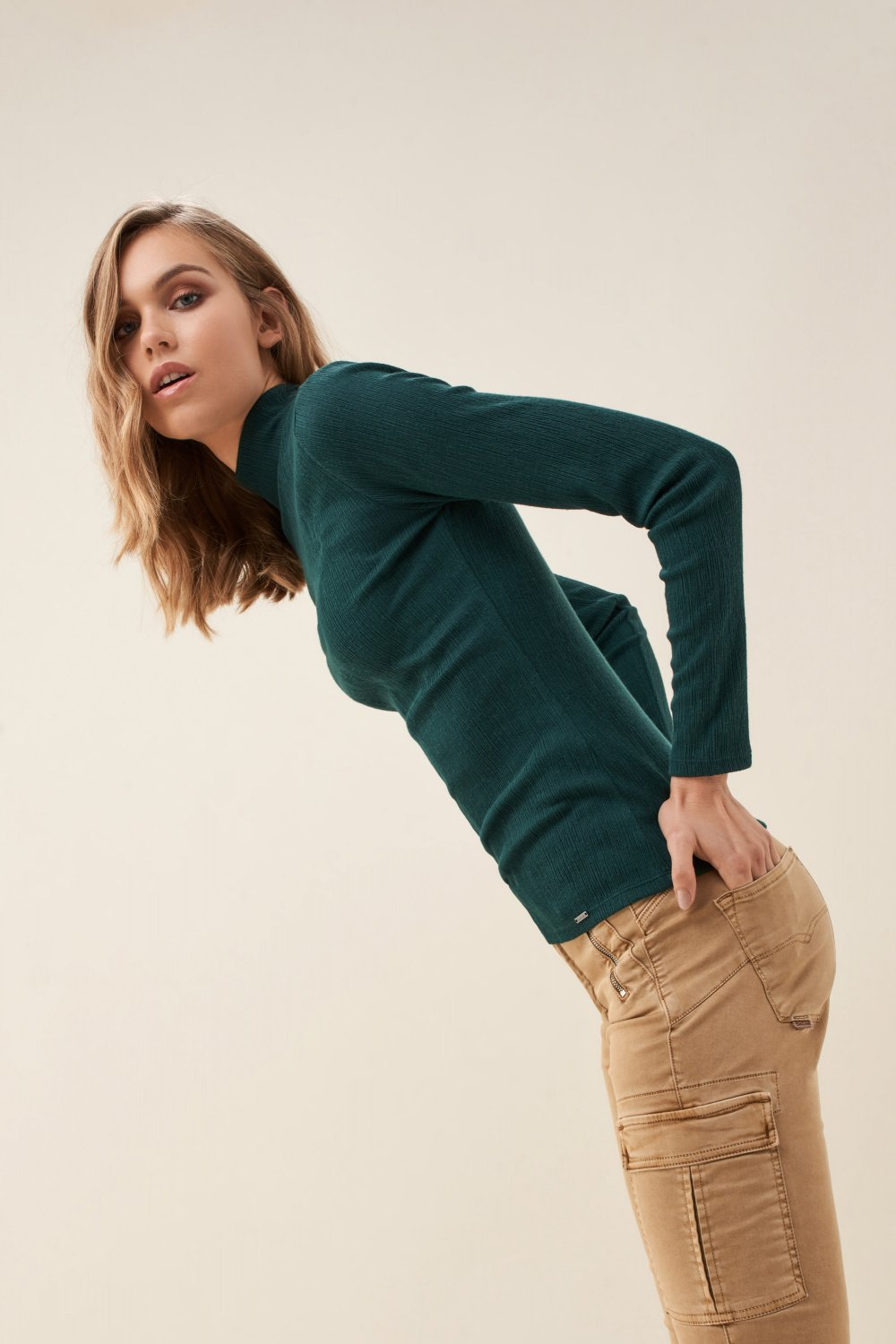 High neck sweater - Salsa
