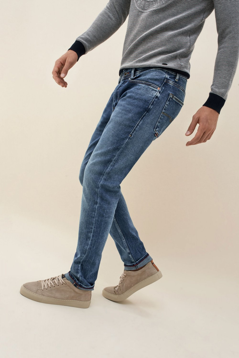 Andy slim medium wash jeans - Salsa