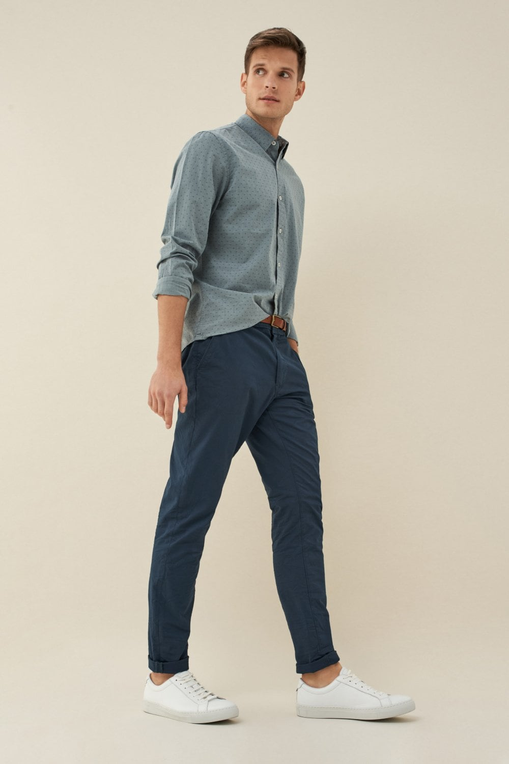 Andy slim chinos with belt - Salsa