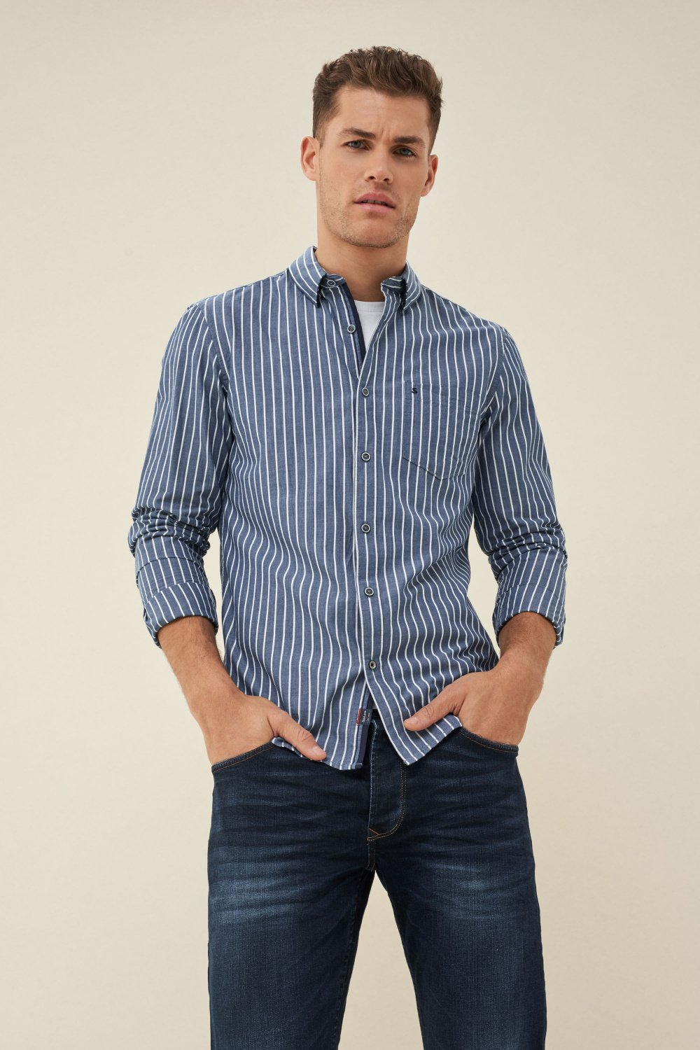 Slim fit striped shirt - Salsa