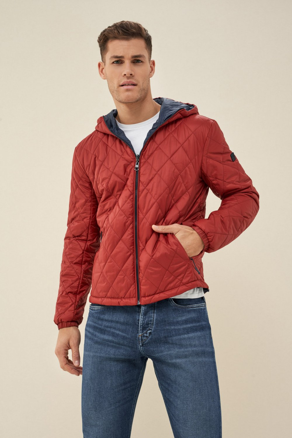 Reversible jacket made of recycled material - Salsa