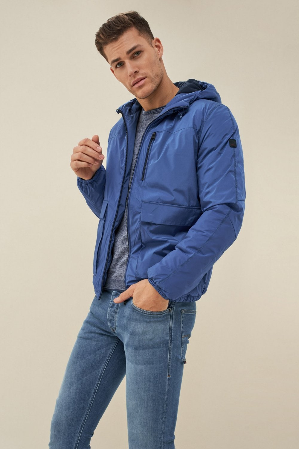 Short puffer water-repellant coat - Salsa