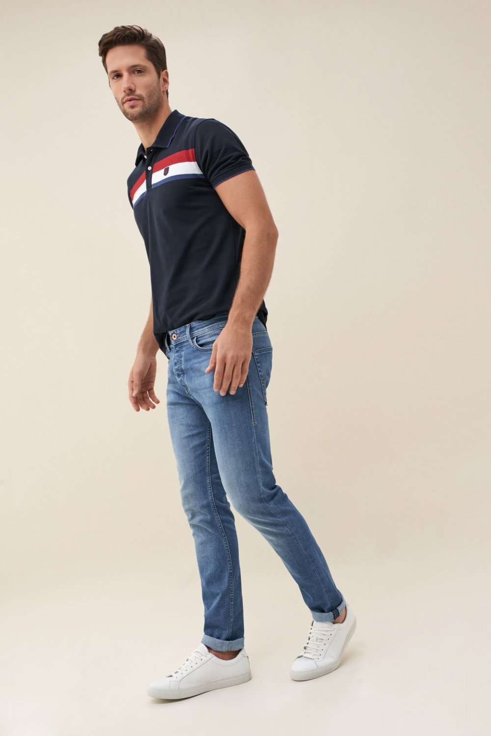 Slender slim carrot coolmax light jeans - Salsa