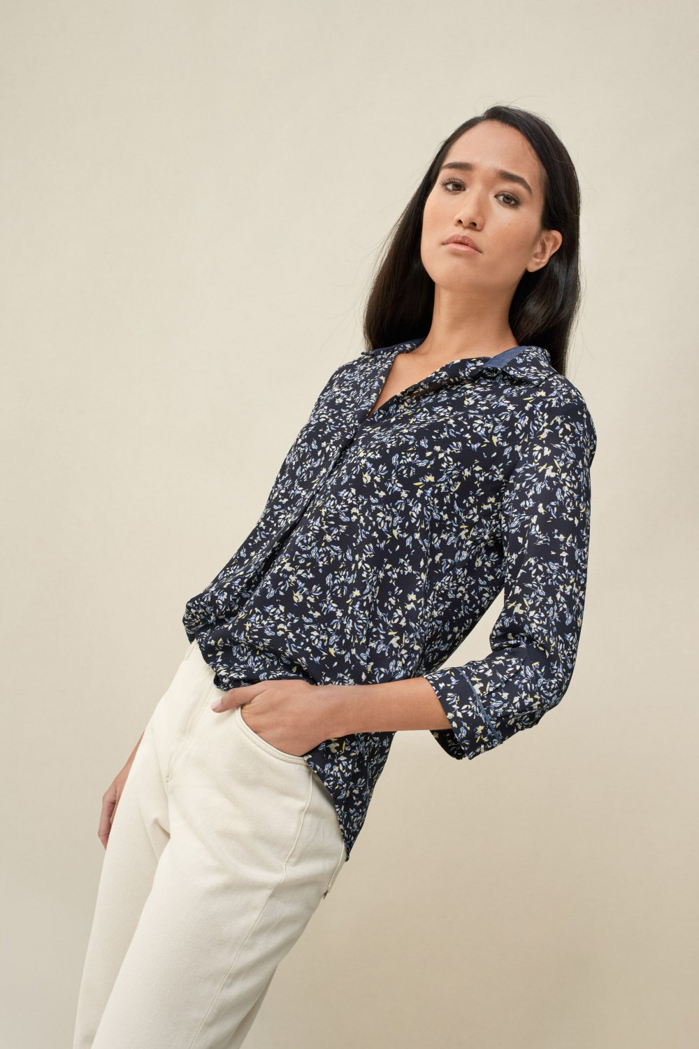 Tunic with allover floral print - Salsa