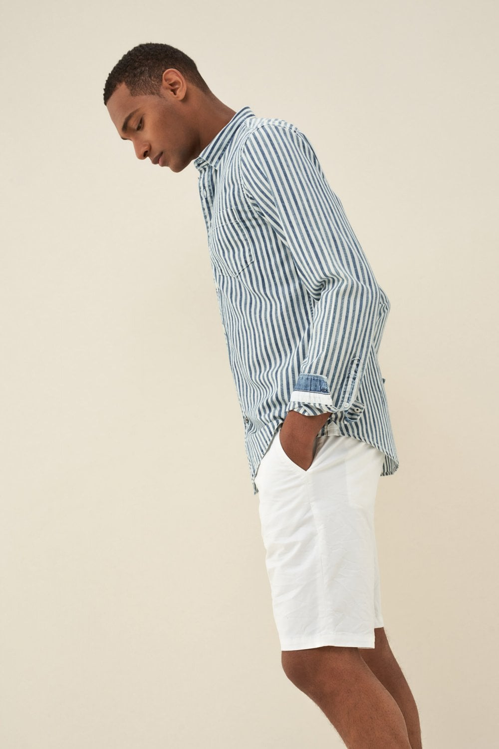 Slim fit vertical striped shirt - Salsa