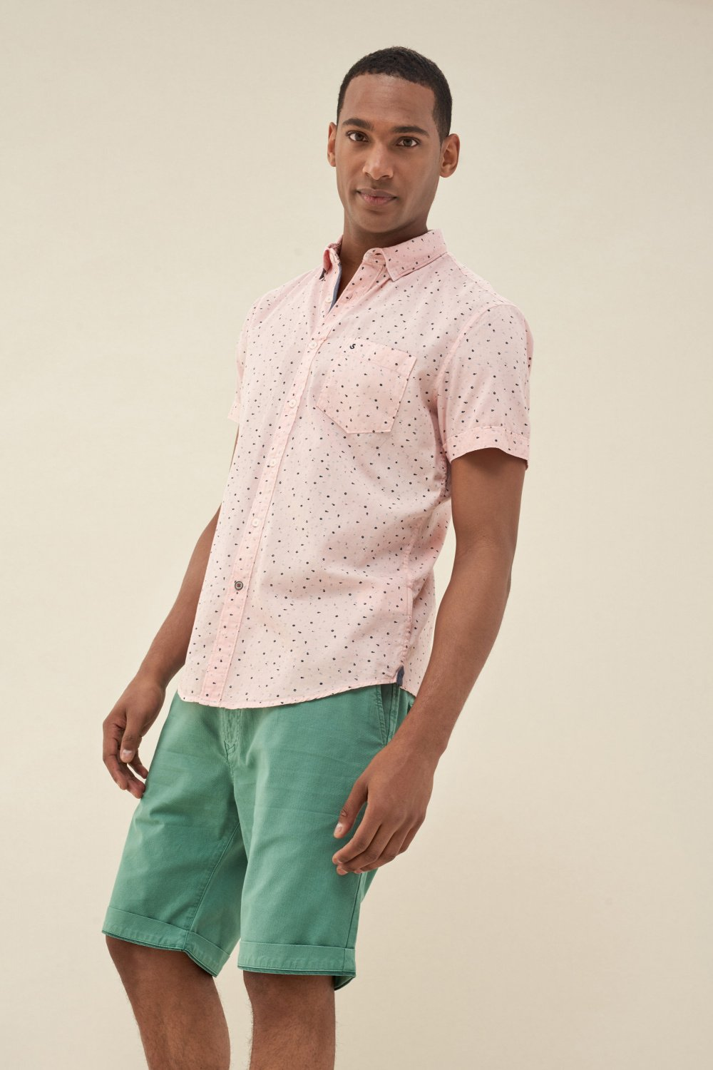 Slim fit shirt with print - Salsa