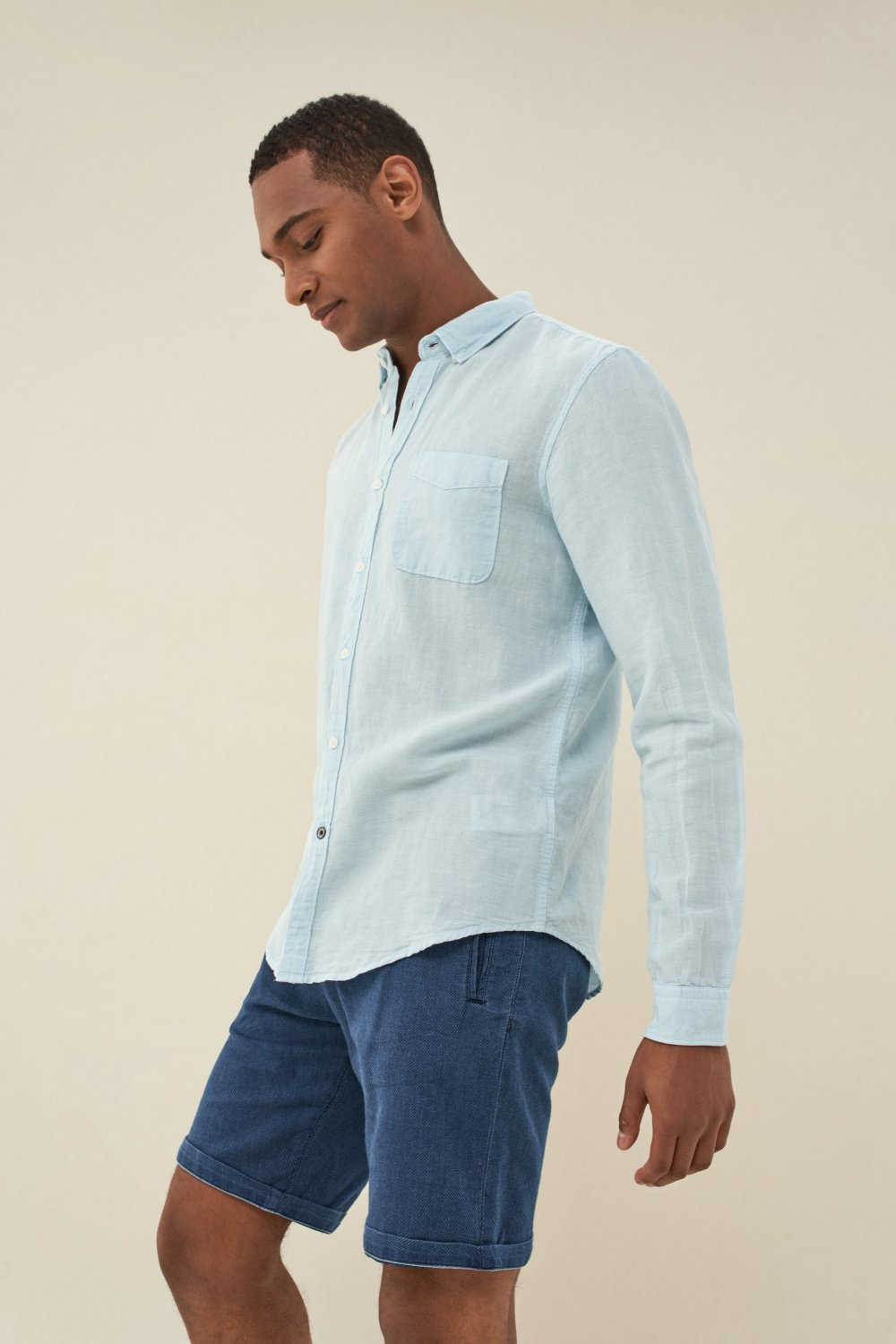 Slim fit linen shirt - Salsa