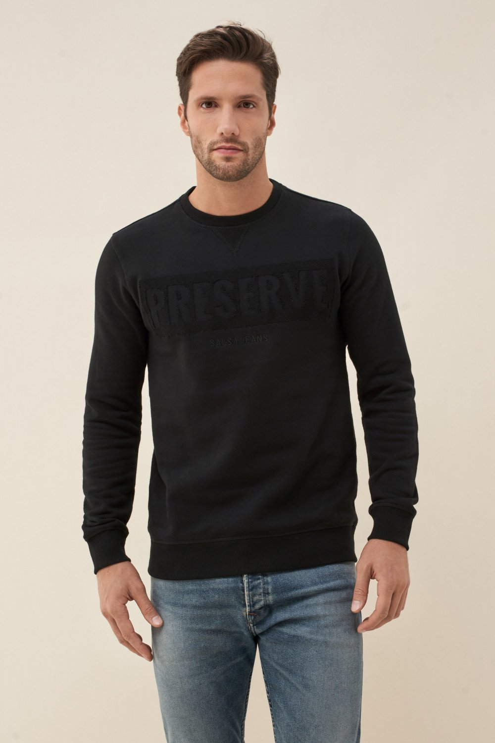 Sweater with ´PRESERVE´ print - Salsa