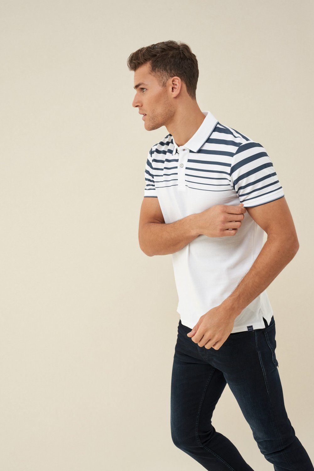 Pólo fit regular com estampado no ombro - Salsa