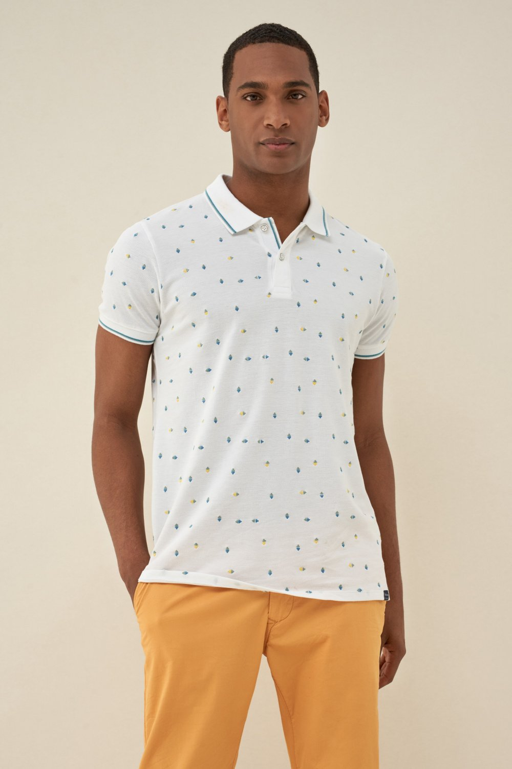 Polo fit regular microprint - Salsa