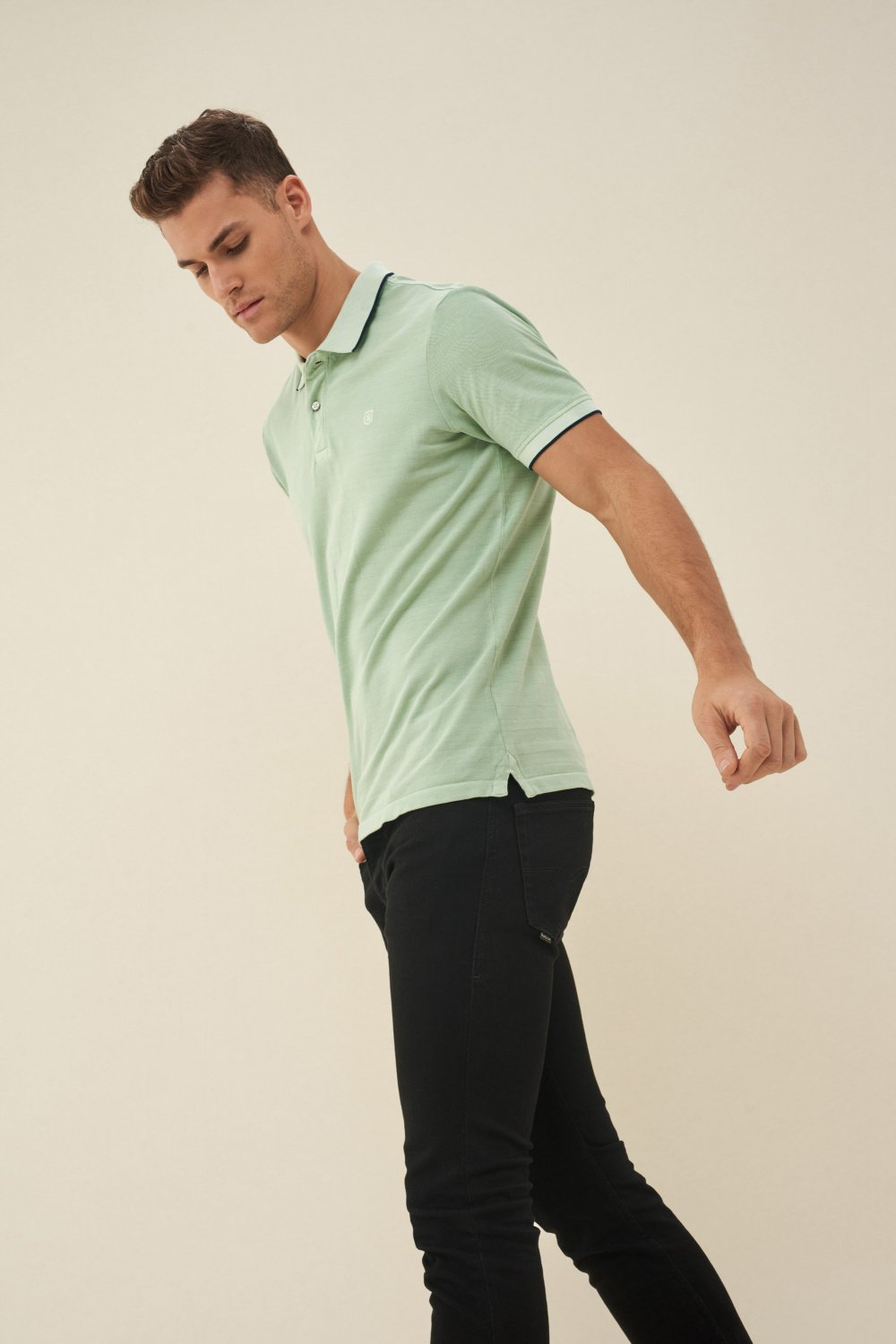 Regular fit cotton polo shirt - Salsa
