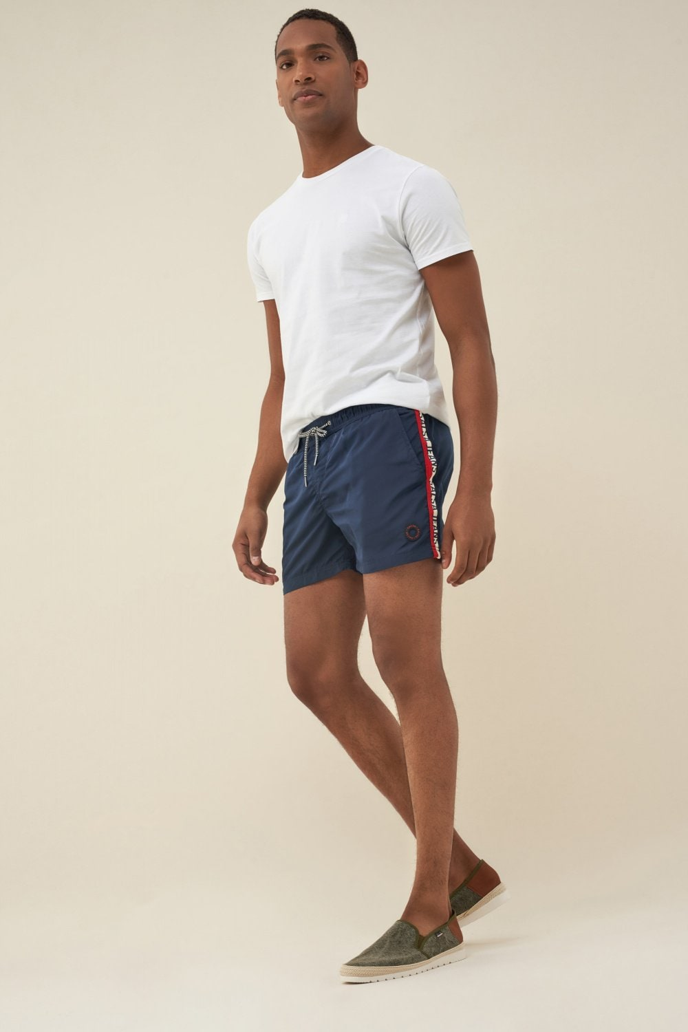 Swimming shorts with side band - Salsa
