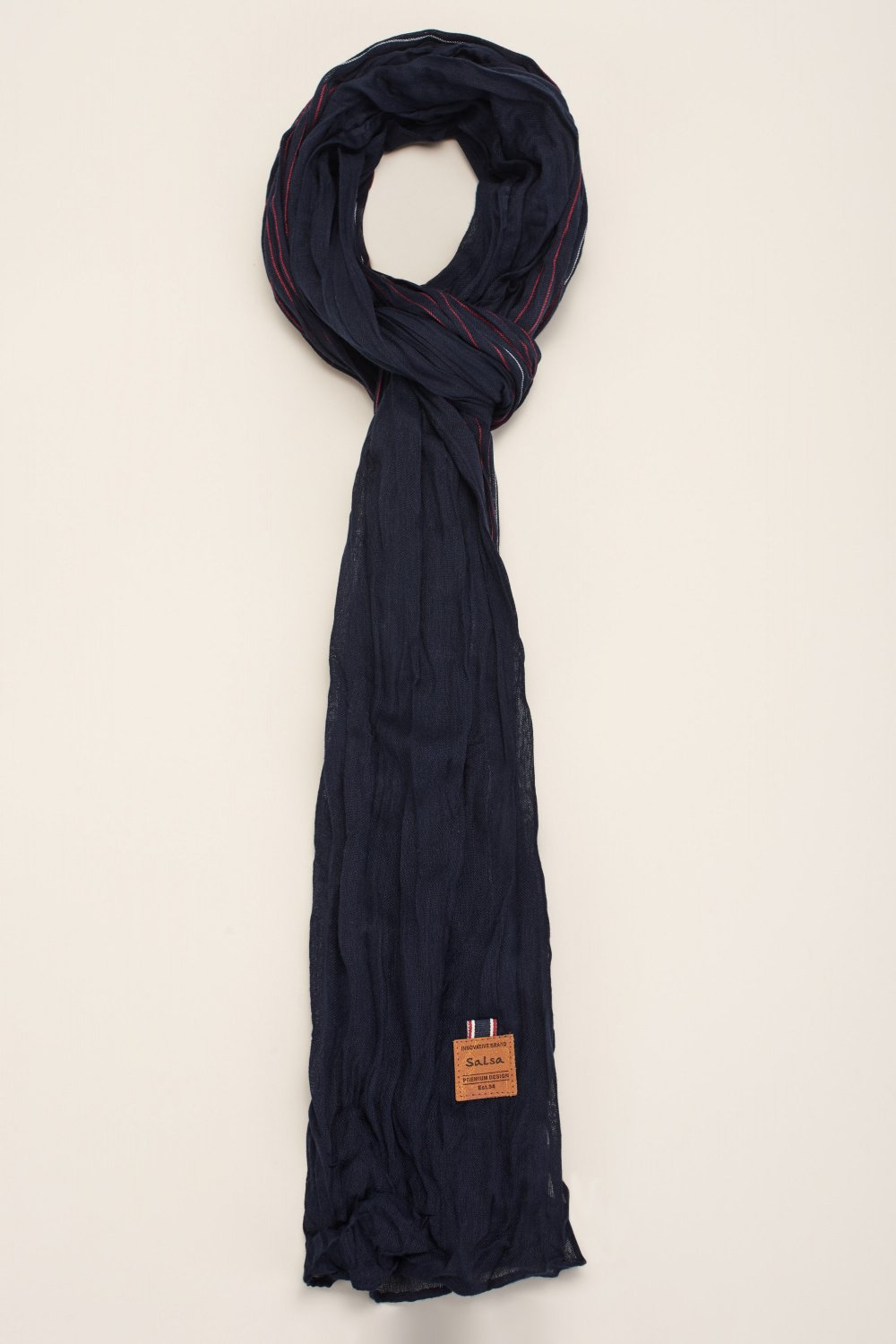 Fine striped scarf - Salsa