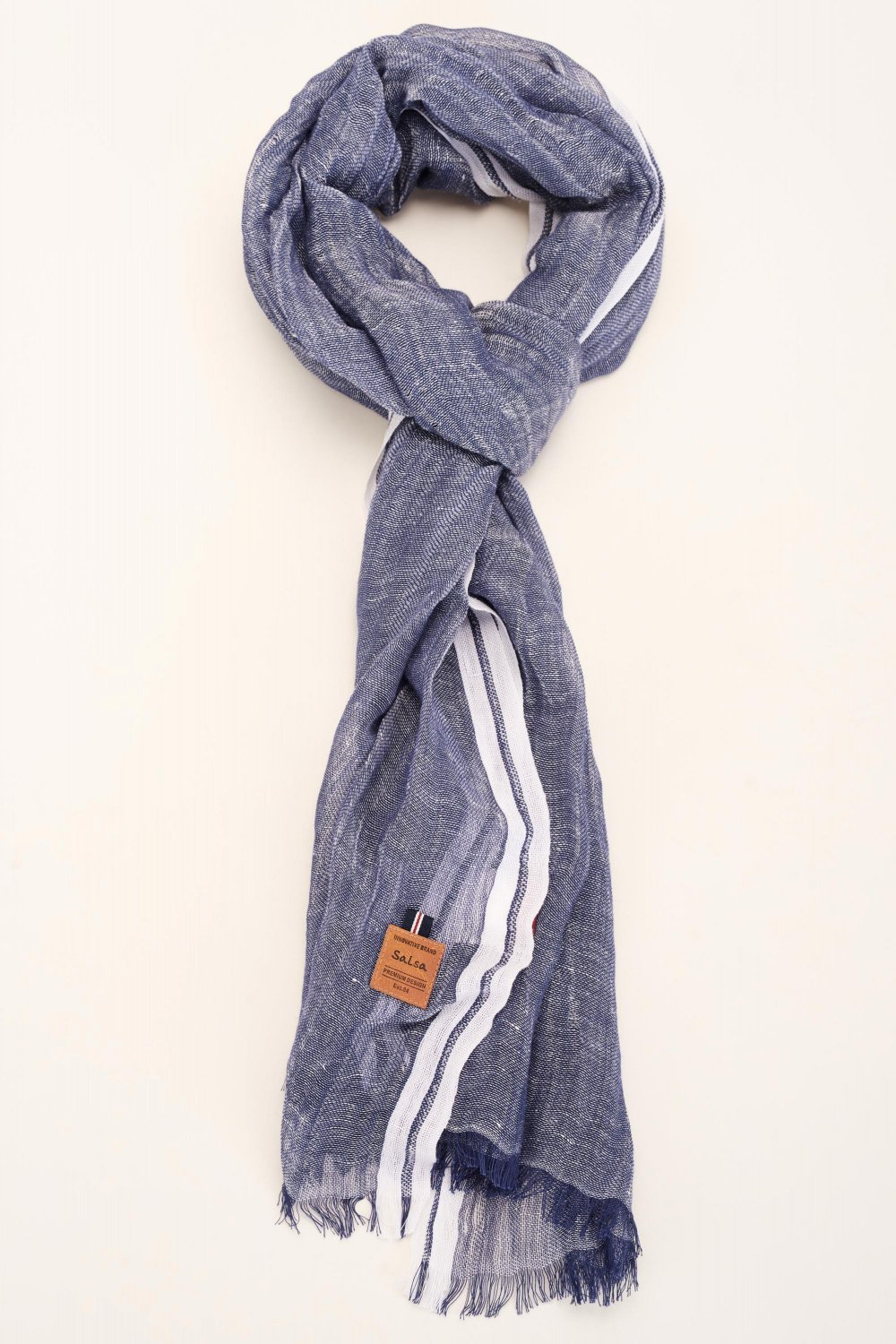 Scarf with side strip - Salsa