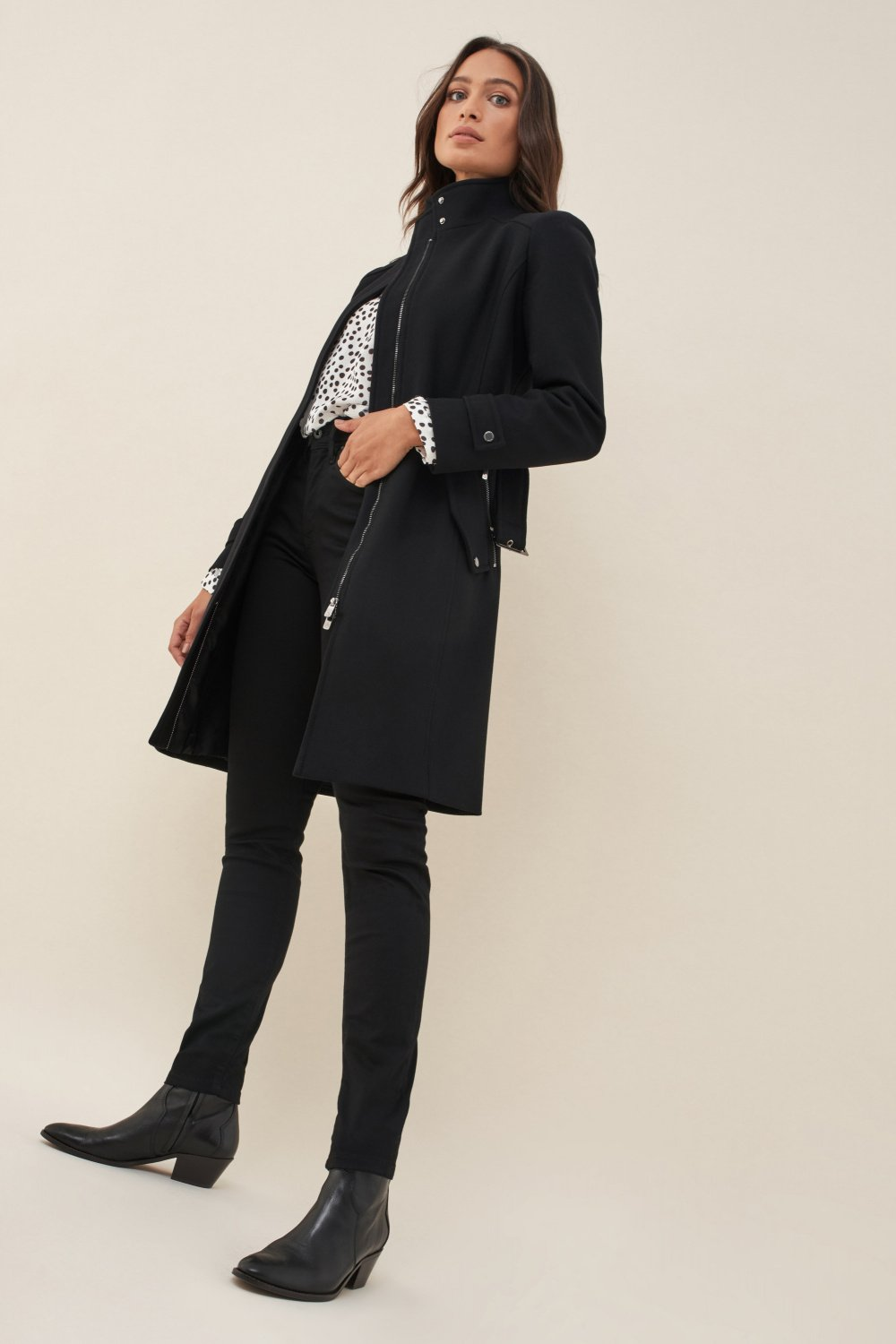 Overall down coat with belt - Salsa