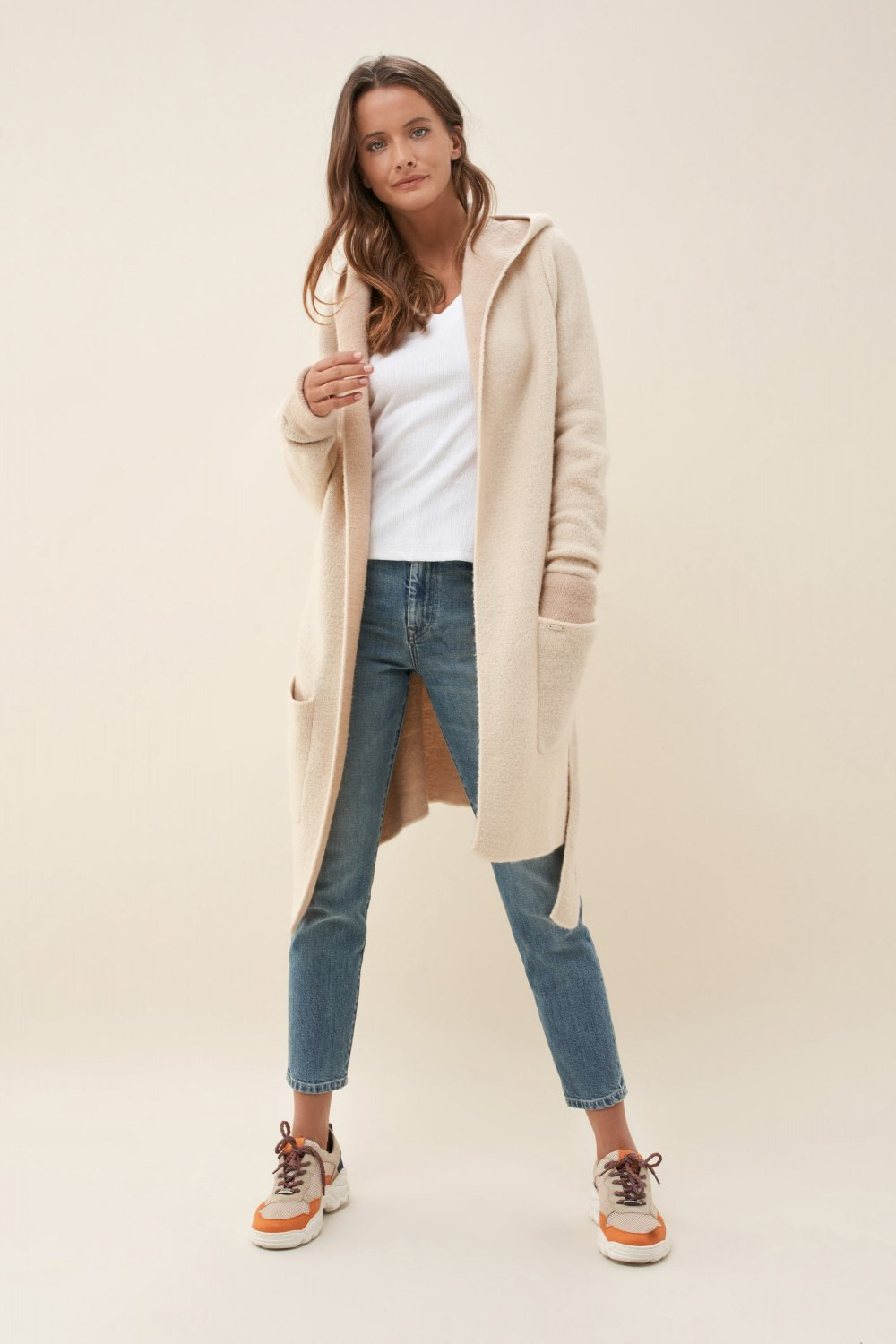 Cardigan with hood - Salsa
