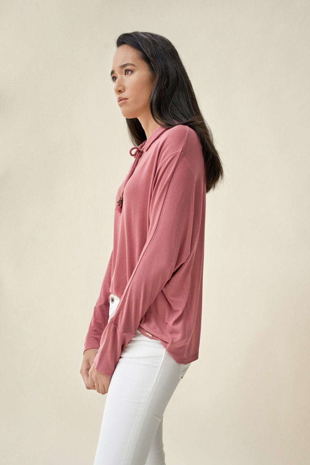 Sweater with drawstring - Salsa