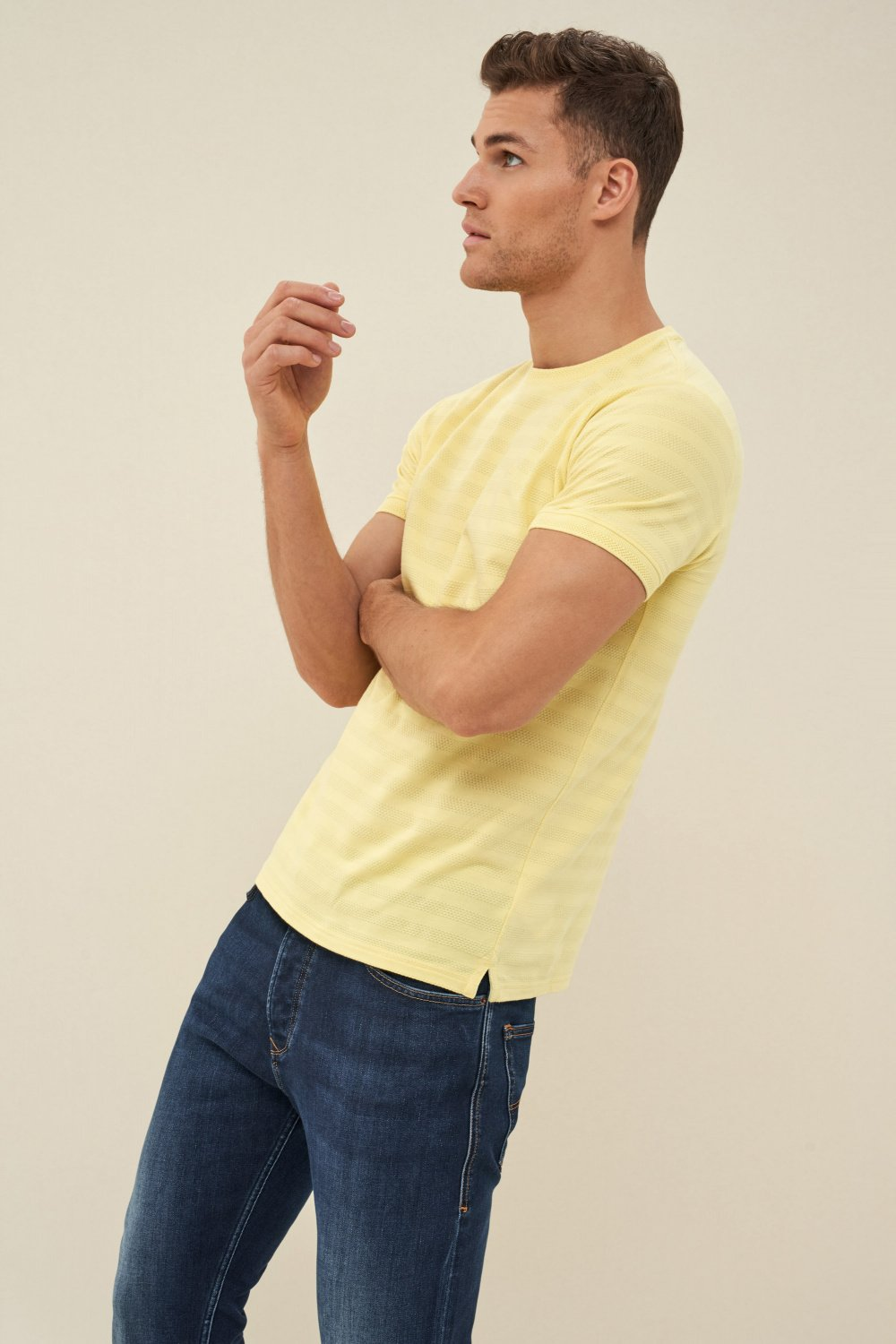 Striped jacquard t-shirt - Salsa