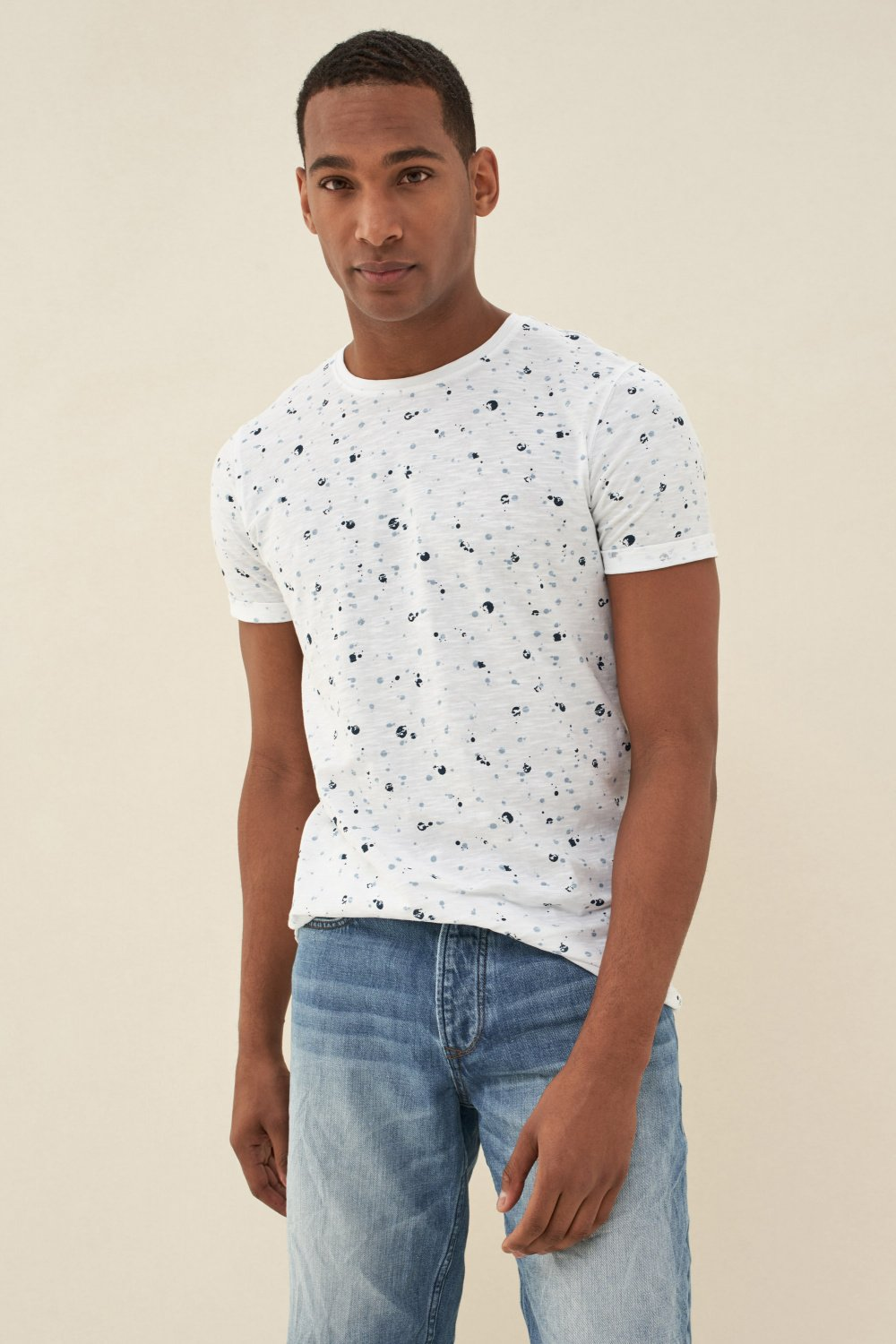 Microprint cotton t-shirt - Salsa