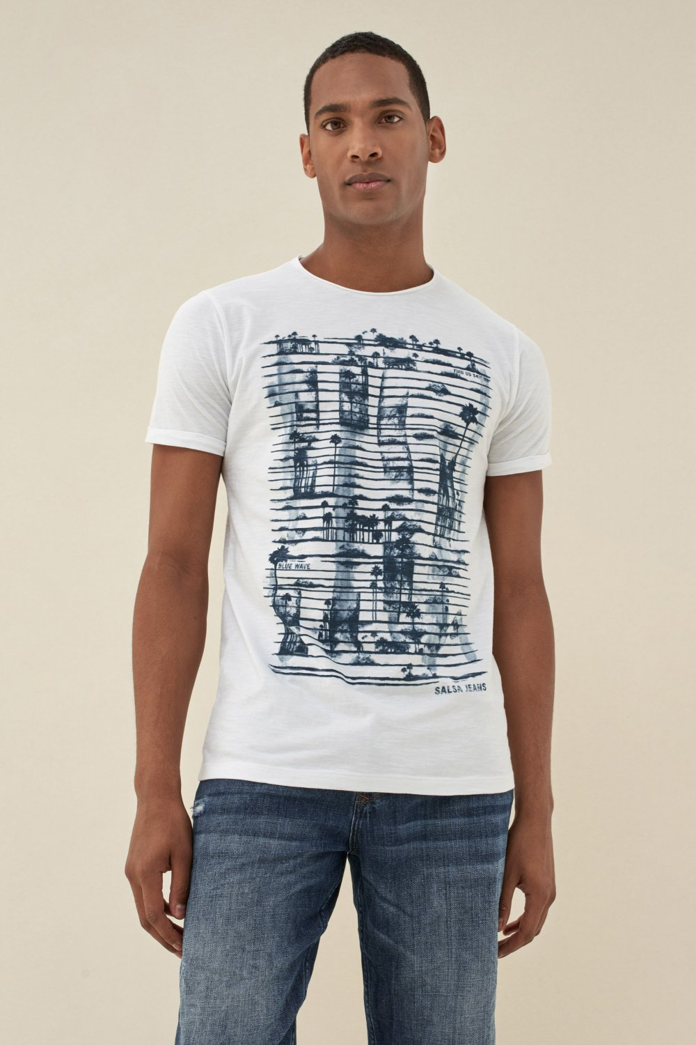 Cotton t-shirt with print - Salsa