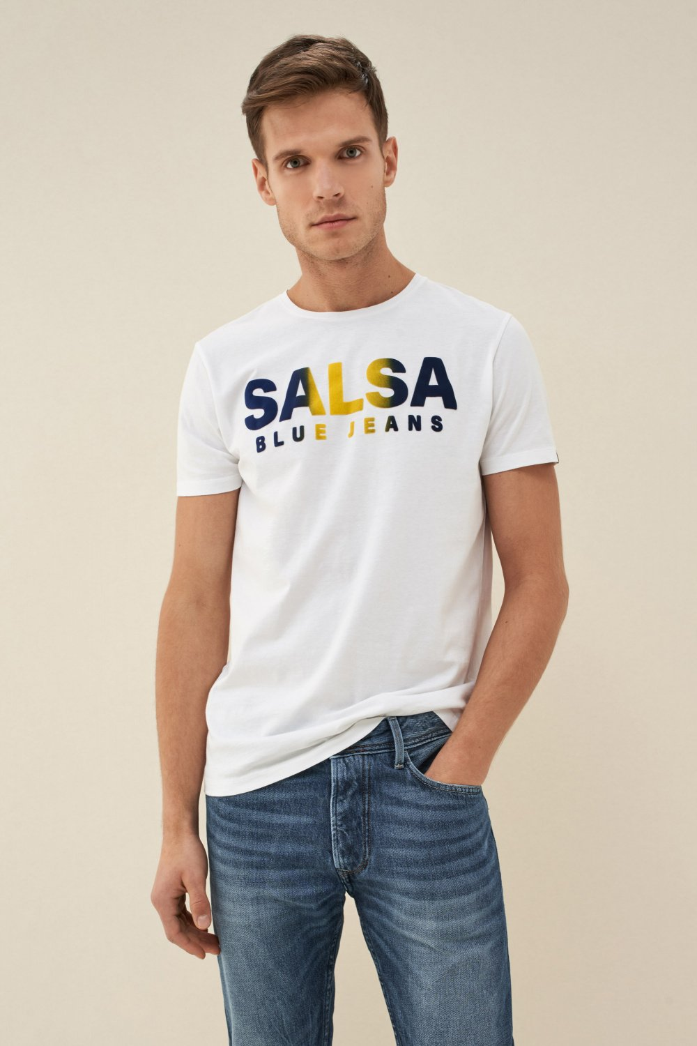 Gradient t-shirt with logo - Salsa