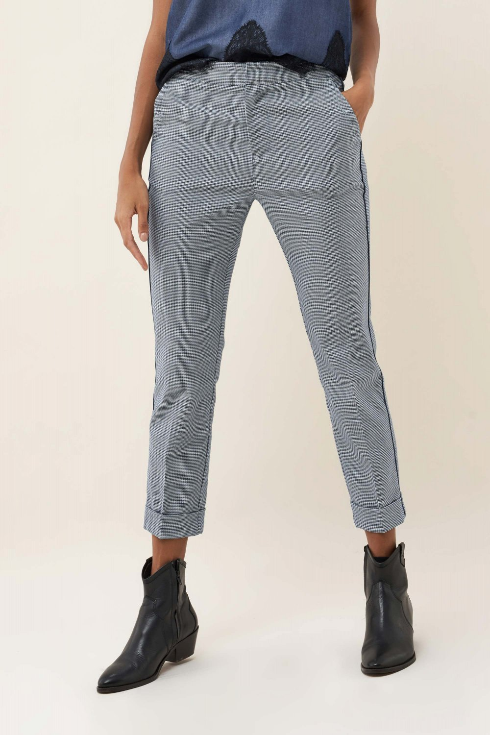 Colette capri trousers with pattern - Salsa