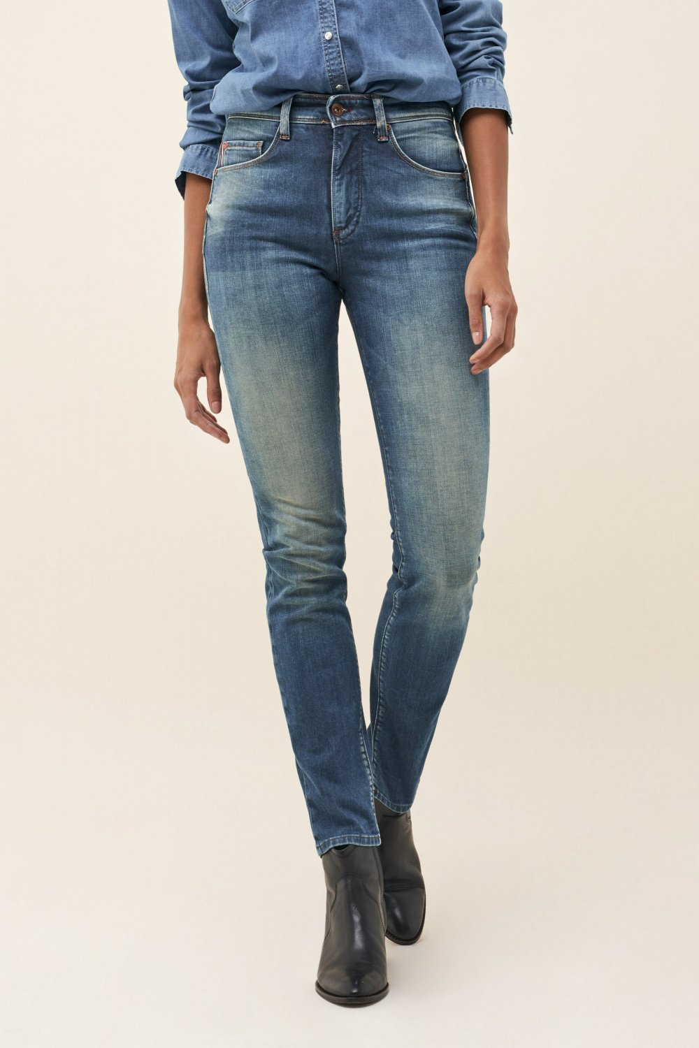Push In Secret Glamour slim jeans in premium wash - Salsa