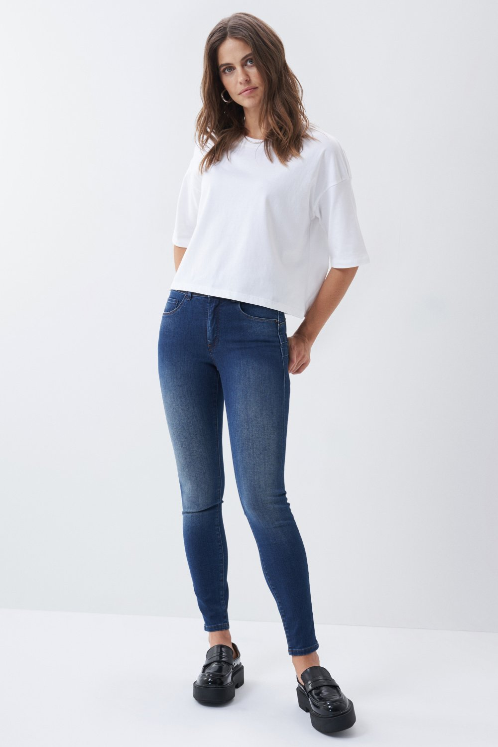 Jeans Push In Secret skinny escuro - Salsa