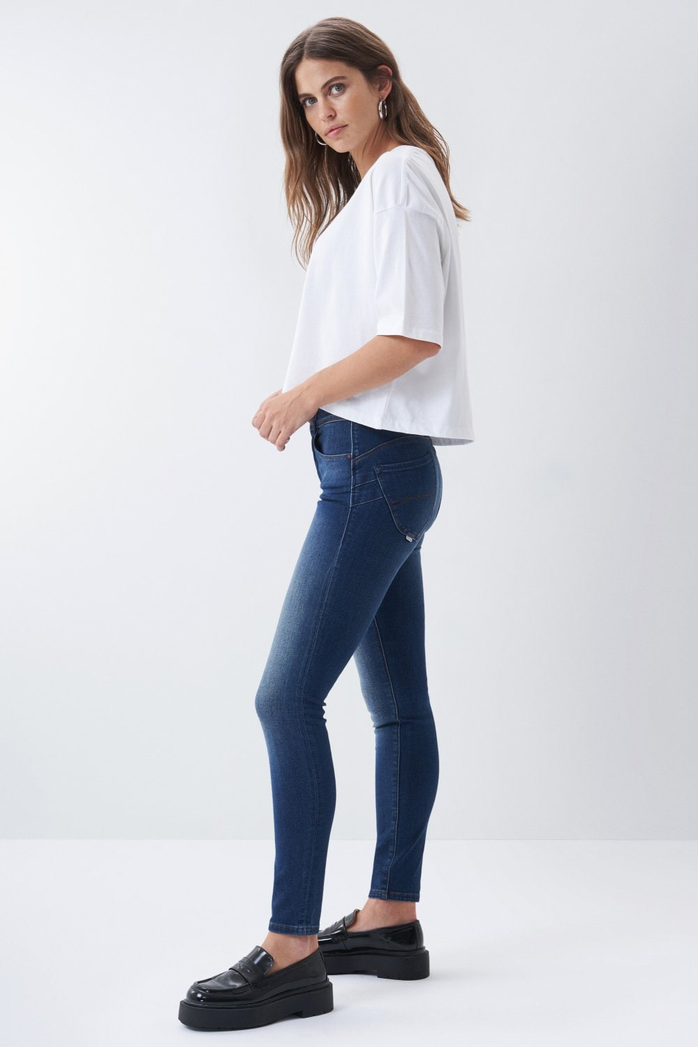 Jeans Push In Secret skinny foncé - Salsa