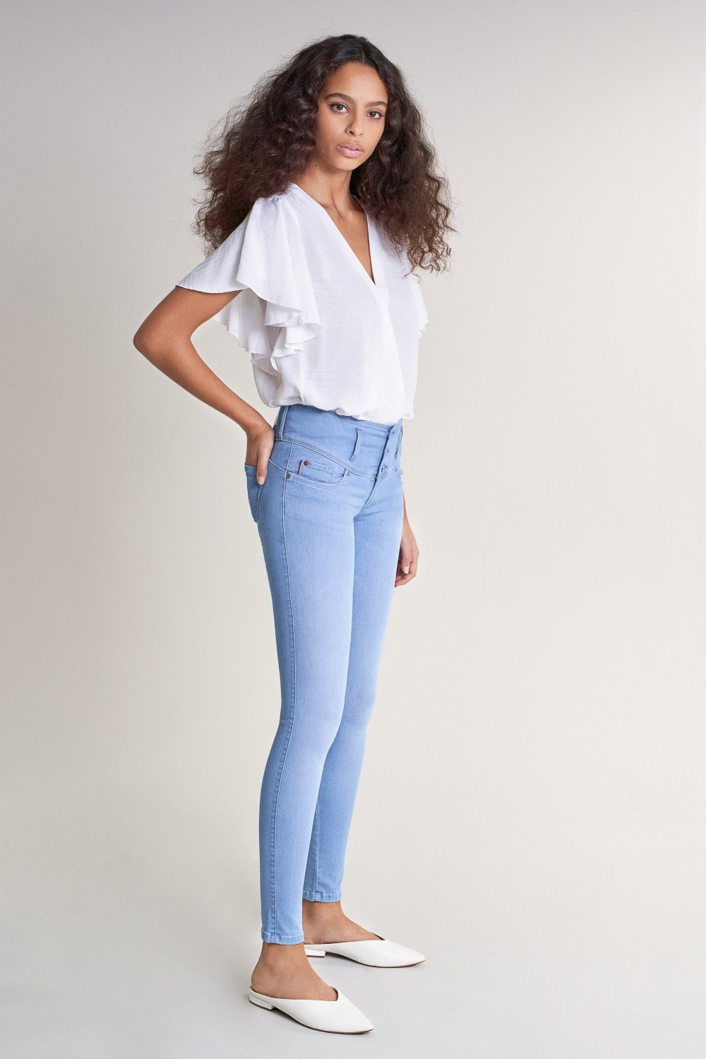 Jeans Mystery Push Up, Skinny, in hellem Denim - Salsa