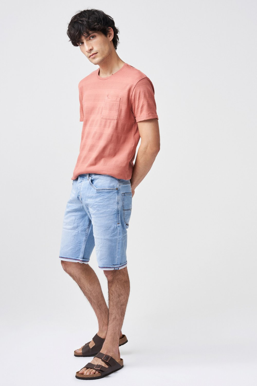Brandon loose mesh shorts - Salsa