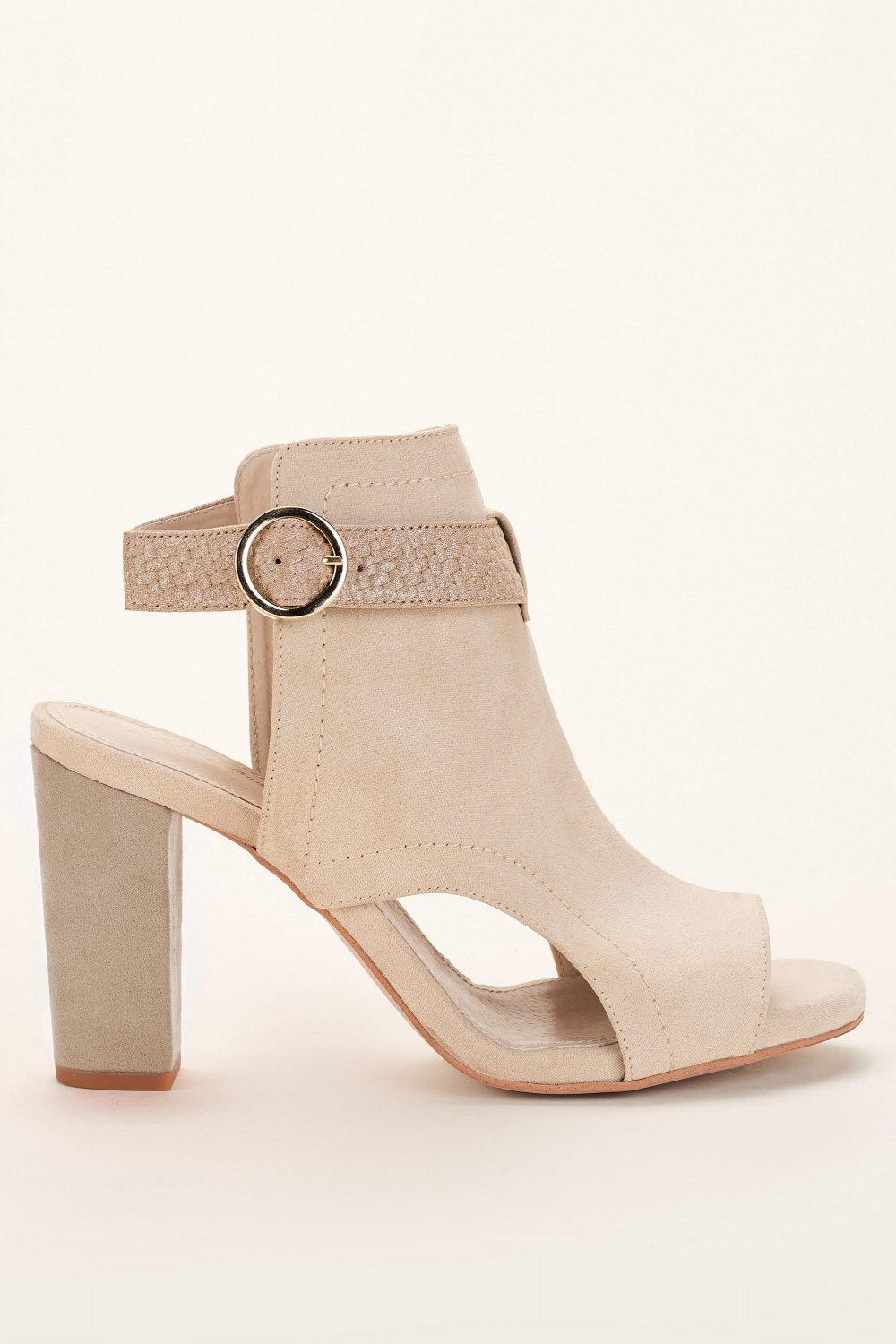 Open leather ankle boots - Salsa