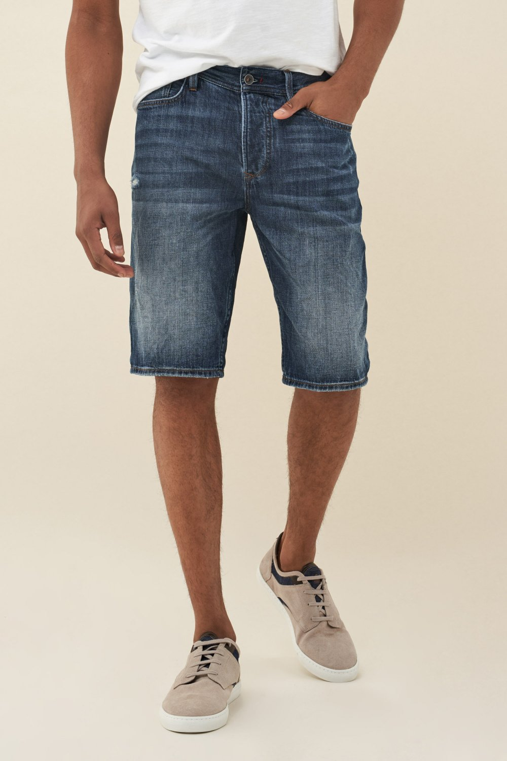 Brandon loose shorts in dark denim - Salsa