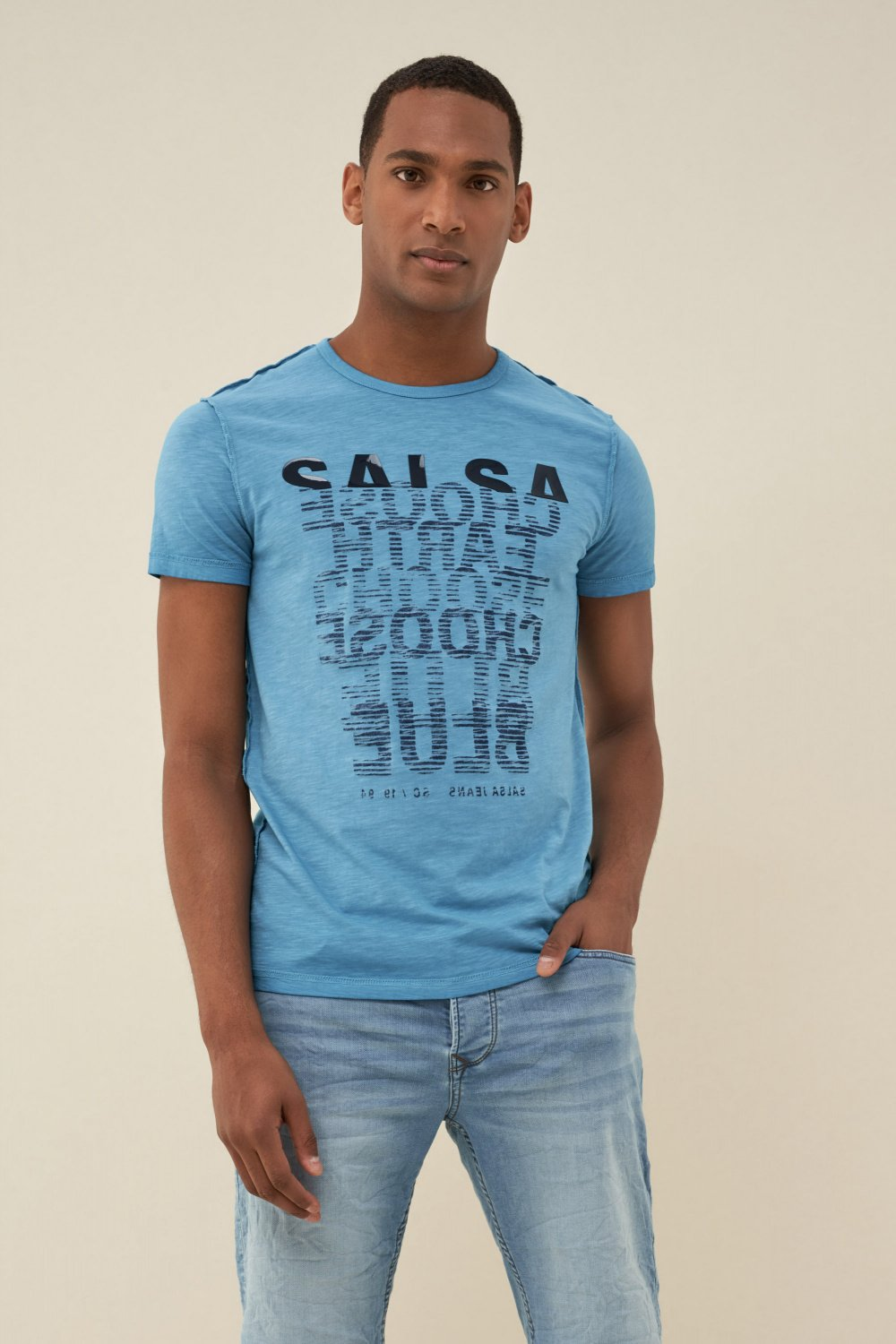 Reversible t-shirt with logo - Salsa